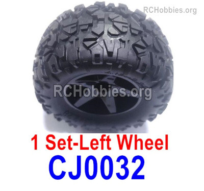 Subotech BG1525 Left Wheels Complete Parts. It includes 2 set Left Wheels and Left Tires. CJ0032.